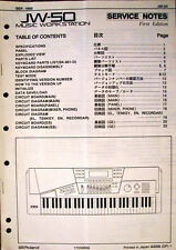 Roland JW-50 Synthesizer Workstation Keyboard Service Manual, Original Booklet