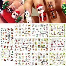 1 Lot =11 Sheets Christmas Xmas Water Transfer Nail Art Stickers Watermark Manic