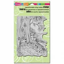 STAMPENDOUS RUBBER STAMPS CLING GNOME HOME NEW STAMP 2015