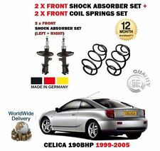 FOR TOYOTA CELICA 190BHP 1999-  2x FRONT SHOCK ABSORBER SHOCKER + 2x COIL SPRING