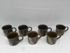 7 Vint Stangl Indian Summer White Earth Cups -  Roy Hamilton Tiffany & Co