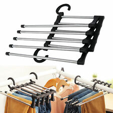 Trousers Pants Denim Jeans Scarf Coat Hanger Hook Clothes Rack OrganizerHSW