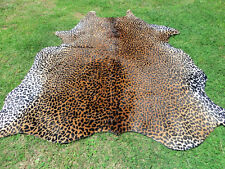 LUXURY LEOPARD CHEETAH Print Printed COWHIDE SKIN Rug steer COW HIDE DC5242