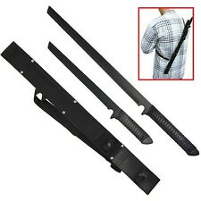 Twin Ninja Set 2 Swords and one Sheath for Both 26 Inch and 18 Inch SS
