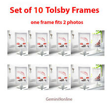 IKEA Picture Frames Set of 10 Whilte Tolsby Modern Frame Displays Double Picture