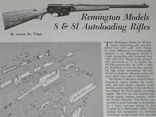 REMINGTON MODEL 8 & 81 RIFLE EXPLODED VIEW