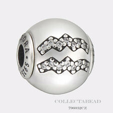 Authentic Pandora Essence Collection Sterling Silver Aquarius Bead 796032CZ