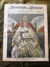 La Domenica del Corriere 9 Agosto 1903 Papa Pio X Conclave Vittorio Emanuele II