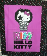 Children's Quilt Fabric Hello Kitty KISS Paul Wallhanging Rock Band Fuchsia BTY