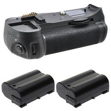 Battery Grip for Nikon D7000 + 2x EN-EL15 Replacement Batteries