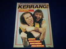 1984 JANUARY 12-25 KERRANG! MAGAZINE - THE SCORPIANS COVER- MUSIC ISSUE - A 1975