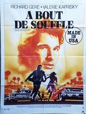 """A BOUT DE SOUFFLE (BREATHLESS)"" Affiche originale Richard GERE,Valérie KAPRISKY"