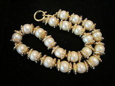 STUNNING ACORN  CHANEL PEARL & RHINESTONE NECKLACE