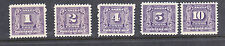 Canada Scott # J6-10 Postage dues    Scott Cat,Val $174.00 VF lightly hinged