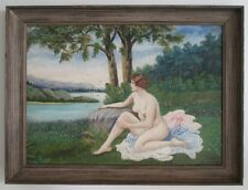 VINTAGE Oil Painting ART DECO LISTED ARTIST NUDE.