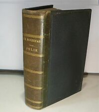 J J Rousseau, Julie, éd; Garnier 1865 DEMI_CUIR, FREE Shipping*