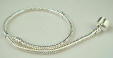 Wholesale 1pcs Snake Chain P Silver Plated Charm Bracelets Fit European Beads u3