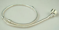 Wholesale 1pcs Snake Chain P Silver Plated Charm Bracelets Fit European Bead dh9