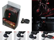 NEW 5 Red LED 2 Laser Bicycle Bike Rear Tail Light Flashing Safety Warning Lamp