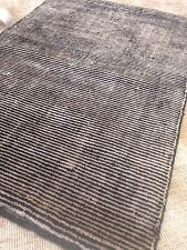 Modern Spectacular Hand Made area Rug Stripes Black/White Carpet Woven 8' X 10'