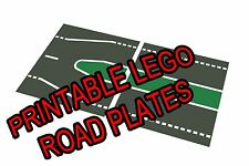"LEGO 11""x17"" Printable Road Plate Median Dark Gray PDF on CD New style"