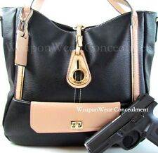 Concealment Purse New Style BLACK Concealed Carry CCW Holster Gun Tote Purse #47