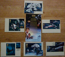 STAR WARS .Stamped Postcard Collection, ( VEHICLES ). Special Postmarks 20/10/15