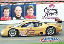2005 Doran Racing Crown Royal Lexus Daytona Prototype Rolex 24 Grand Am postcard