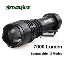 7000LM CREE Q5 AA/14500 Real Super Bright 3 Modes Zoom LED Flashlight Torch Lamp