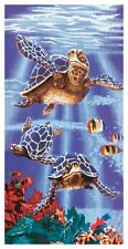 "Island Gear Sea Turtle Towel 30""x60"" Purple"