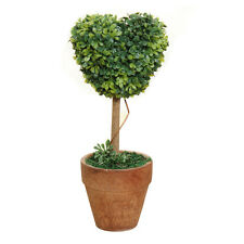 Plastic Grass Ball Topiary Tree Pot Dried Plant for Wedding Heart-shaped DI