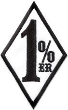 One Percenter 1%er biker outlaw motorcycle gang applique iron-on patch S-1177