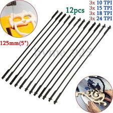 12Pcs 5'' 125mm Pinned Scroll Saw Blades Woodworking Power Tools Accessories