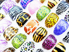 Wholesale Lots mixed 20pcs Leopard HOT Fashion women's Sexy resin rings J114
