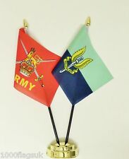 British Army & Special Air Service SAS Blue Double Friendship Table Flag Set