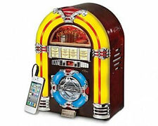 Crosley 1947 Mini Juke Box CD Player AM/FM Radio Retro LED Lights +MP3-AUX-INPUT