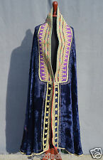 Vintage Afghan Traditional Women Tribal Shawl Embroidery Velvet Chador Wrap S-16