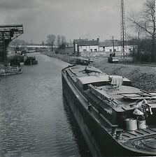 NEUVILLE SUR L'ESCAUT c. 1950 - Canal Péniche Halage Toueur Nord DIV 6766