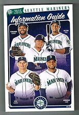 2015 Seattle Mariners MLB Baseball Media GUIDE