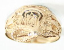 "Impressive Gents 9ct Gold Hallmarked Saddle Ring Size ""U"" weighs 8.6 Grams"