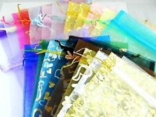 10pcs Mixed Organza Wedding Favor Pouches Large Gift Jewelry Packing Bag 17*23cm