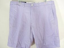 Polo Ralph Lauren Men's 34 Golf Shorts Purple Gingham Check Flat Front Preppy