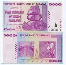 ZIMBABWE 2008 500 MILLION  MONEY BANKNOTE - P 82 - INFLATION CURRENCY AA PRE