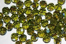 x 20 Cristalli SWAROVSKI ELEMENTS ORIGINALI 8mm 8 mm ROUND BEAD OLIVINE