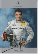 Jean Alesi Signed Mercedes-Benz DTM Promo Card.