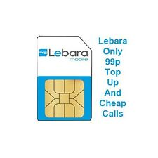 Lebara SIM Card With Cheap UK & International Calls Trio SIM 3 Sizes in 1 SIM