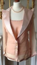 AUTHENTIC Valentino ROSA VINTAGE ORGANZA ABITO COMPLETO Giacca Top Nwt FR36 UK8!