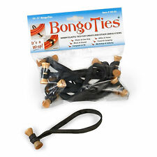 "Bongo Ties Original 5"" Rubber Grip Tie Computer Cable & Cord Organizer (10 Pack)"