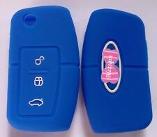 BLUE SILICONE FLIP KEY COVER FOR FORD FIESTA FOCUS MONDEO XR6 TERRITORY FALCON