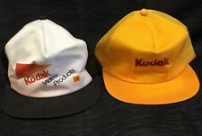 Vintage Kodak Film Video 70s 80s SnapBack Trucker Collector's Hat Lot Caps Rare